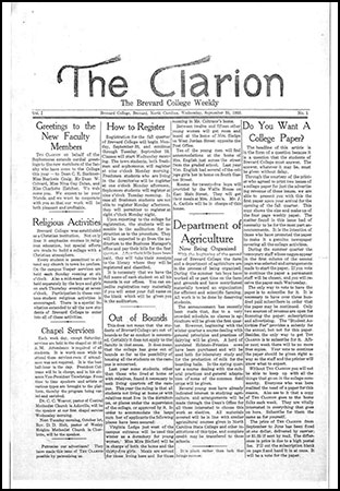 First issue of The Clarion in 1935