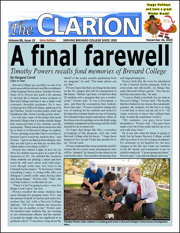 Click for the most recent issue of The Clarion