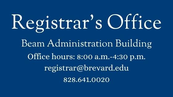 Registrar's Office General Information